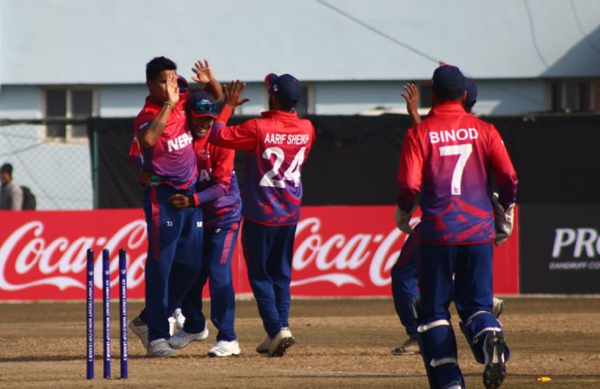 Oman presented Nepal with a target of 194 runs