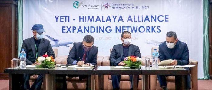 हिमालय र यती एयरलाइन्सबीच रणनीतिक व्यापार साझेदारी
