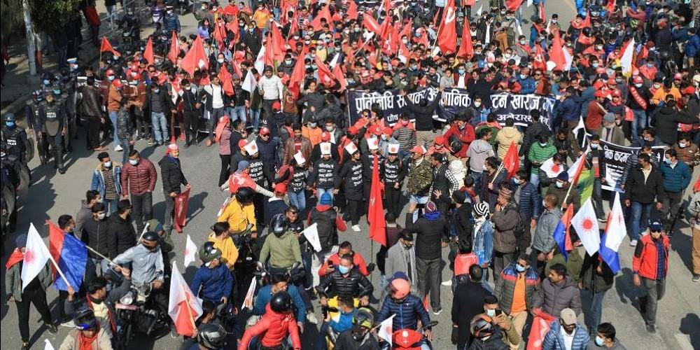 दाहाल–नेपाल समूहले आज काठमाडौँमा सिटी जुलुस निकाल्दै