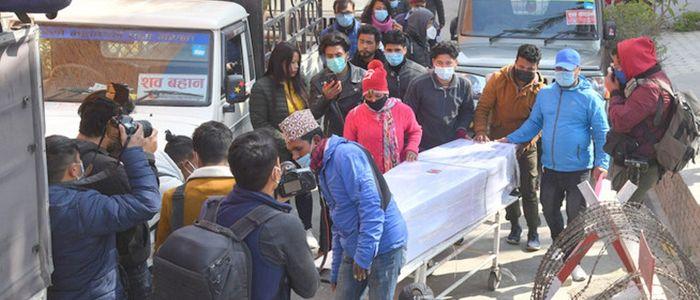 मलेसियामा मृत्यु भएका १८ जनाको शव नेपाल ल्याइयो