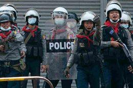 म्यानमारमा प्रहरीले गोली चलाउँदा १८ जना प्रदर्शनकारीको मृत्यु