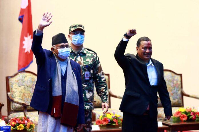 ओली र विप्लव समूहका नेताहरु बीच भेटवार्ता