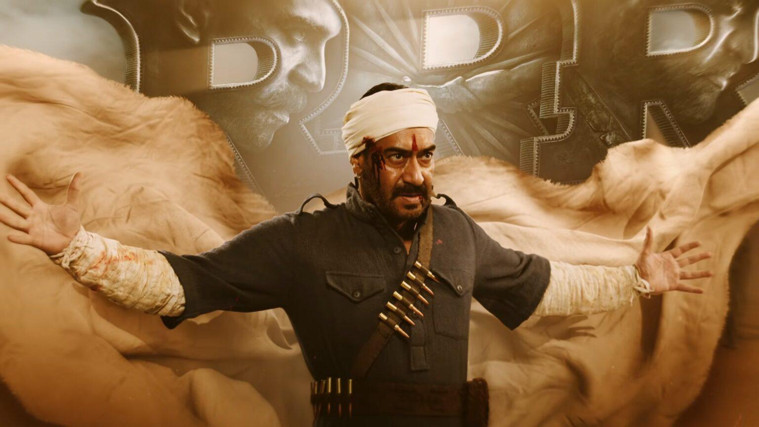 अजयको जन्मदिनमा 'आर आर आर'को फर्स्टलुक  सार्वजनिक, ४७५ करोडमा फिल्म विक्री