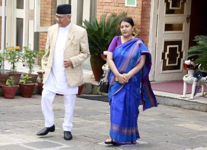 The dual role of the President in the cabinet reshuffle :  Oli denied to Deuba