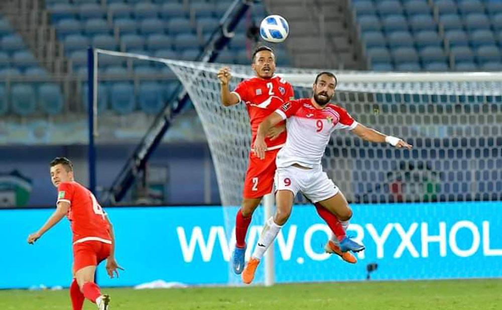 विश्वकप छनोट फुटबल : जोर्डनसँग नेपाल ३ गोलको अन्तरले पराजित