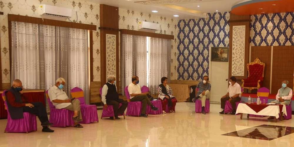 रामचन्द्र पौडेल पक्षिय नेताको भेला बसुन्धरामा, को को पुगे भेलामा सामेल हुन