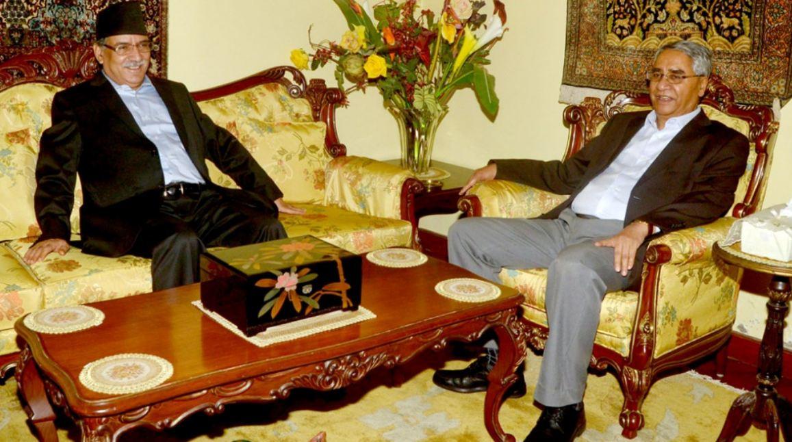 प्रधानमन्त्री देउवा र अध्यक्ष दाहालबीच भेटवार्ता